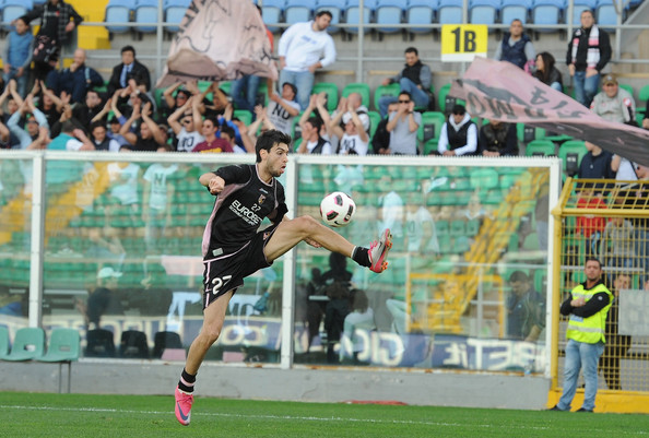 Javier Pastore Javier Pastore of US Citta di Palermo in action during a training session at Stadio Renzo Barbera on March 16, 2011 in Palermo, Italy.