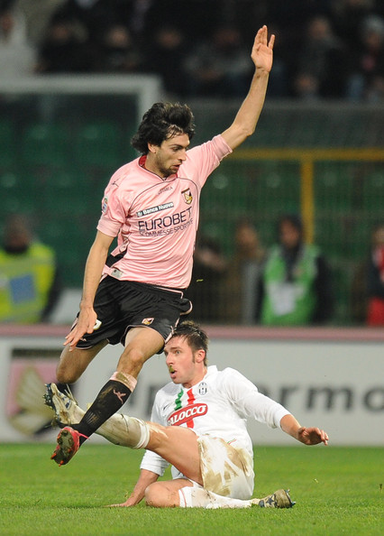 Javier Pastore Javier Pastore (L) of Palermo jumps as Zdenek Grygera of Juventus tackles during the Serie A match between US Citta di Palermo and Juventus FC at Stadio Renzo Barbera on February 2, 2011 in Palermo, Italy.