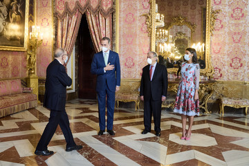 Javier Solana Spanish Royals Host A Lunch For Secretary-General of the United Nations, Antonio Guterres