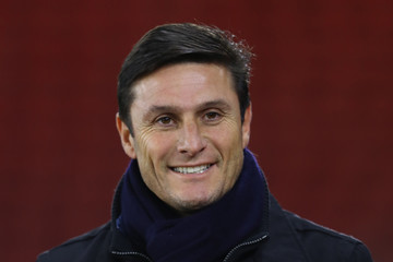 Javier Zanetti FC Internazionale Milano Training Session and Press Conference