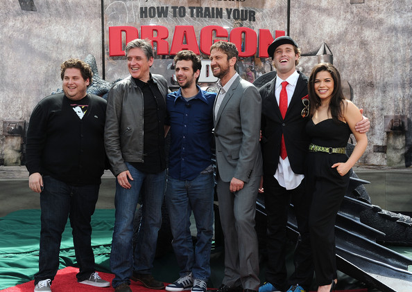 """Premiere Of Dreamworks Animation's """"How To Train Your Dragon"""" - Arrivals [how to train your dragon,social group,event,premiere,team,suit,formal wear,crew,arrivals,jonah hill,gerard butler,miller,craig ferguson,t.j.,dreamworks animation,premiere,premiere]"""