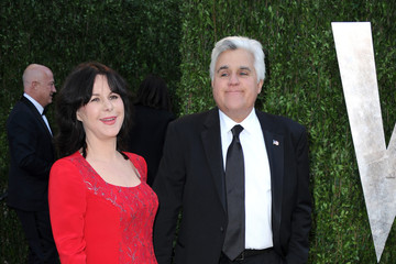 Jay Leno Mavis Leno 2013 Vanity Fair Oscar Party Hosted By Graydon Carter - Arrivals