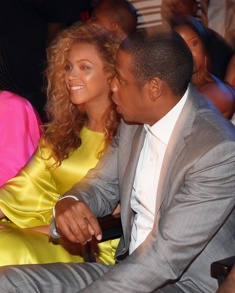 Jay-Z (L-R) Singer Beyonce and rapper Jay-Z attend the 2012 BET Awards at The Shrine Auditorium on July 1, 2012 in Los Angeles, California.