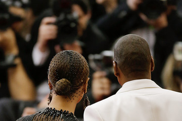 Jay-Z Beyonce Knowles Red Carpet Arrivals at the Met Gala