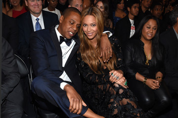 Jay-Z Beyonce Knowles The 57th Annual GRAMMY Awards - Backstage