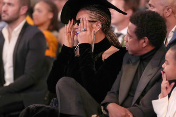 Jay-Z Beyonce Knowles 60th Annual GRAMMY Awards - Roaming Show