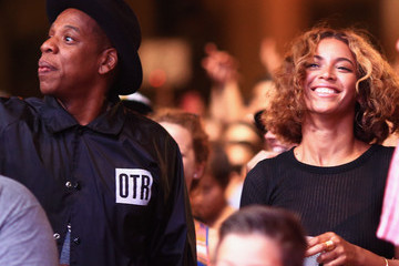 Jay-Z Beyonce Knowles 2014 Budweiser Made In America Festival - Day 2 - Backstage - Los Angeles