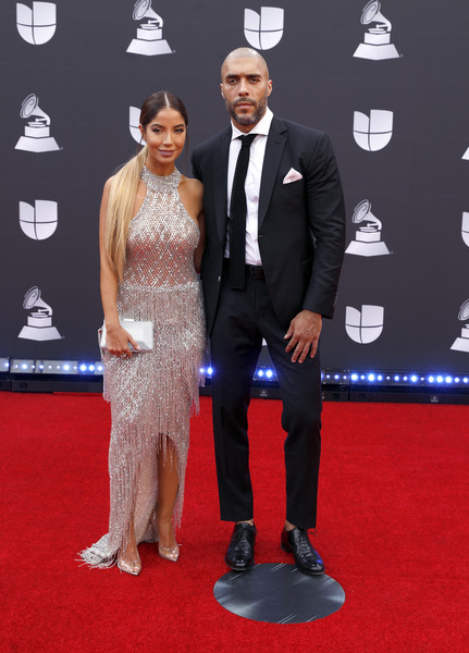 20th Annual Latin GRAMMY Awards - Arrivals [red carpet,carpet,flooring,suit,event,formal wear,premiere,tuxedo,arrivals,jaycen joshua,r,latin grammy awards,las vegas,nevada,mgm grand garden arena]