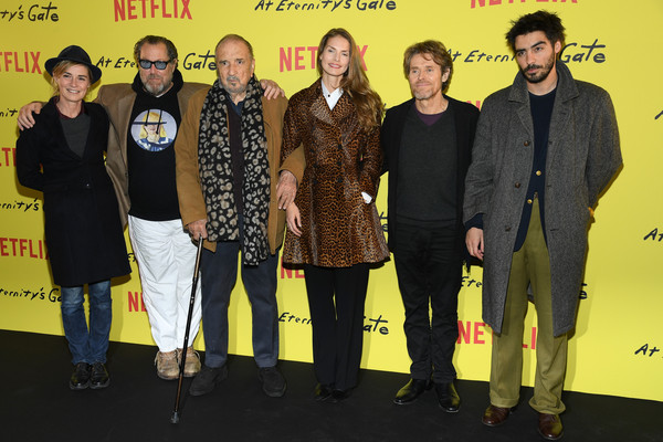 'At Eternity's Gate' Photocall At Le Louvre In Paris [photocall at le louvre in paris,film,yellow,event,premiere,vladimir consigny,anne consigny,julian schnabel,at eternitys gate,photocall,paris,france,musee du louvre on april]