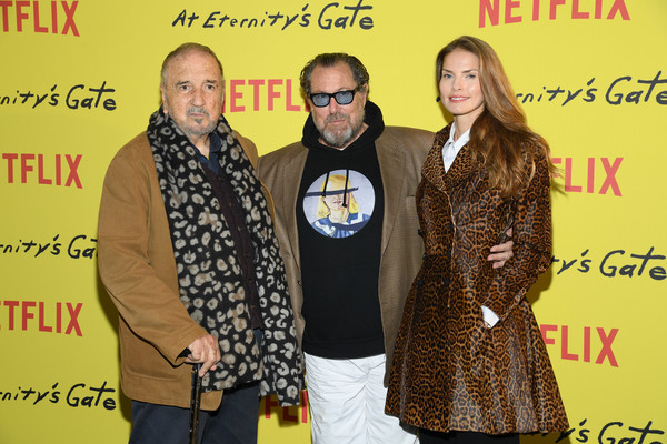 'At Eternity's Gate' Photocall At Le Louvre In Paris [at eternitys gate,yellow,event,premiere,adaptation,louise kugelberg,julian schnabel,jean-claude carriere,photocall,paris,le louvre,france]