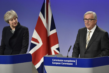 Jean-Claude Juncker British Prime Minister Theresa May Meets European Commission Chief Jean-Claude Juncker in Brussels