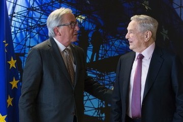 Jean-Claude Juncker Georges Soros Meets EU Commission President Jean-Claude Juncker for Talks Focusing on Hungary