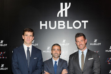 Jean-Francois Sberro Hublot Announces Eli Manning As New Brand Ambassador With Limited Edition Timepiece