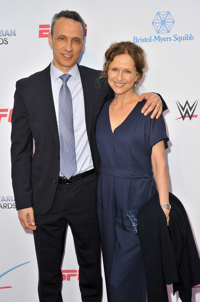 5th Annual Sports Humanitarian Awards Presented By ESPN [suit,formal wear,event,white-collar worker,premiere,tuxedo,dress,little black dress,carpet,smile,jimmy pitaro,jean louisa kelly,california,los angeles,the novo theater,l.a. live,espn,annual sports humanitarian awards]