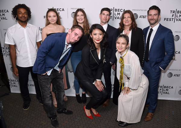 'After Parkland' - 2019 Tribeca Film Festival [social group,event,fashion,premiere,white-collar worker,suit,team,tourism,performance,producers,directors,lauren hogg,victoria gonzales,jake lefferman,emily taguchi,parkland,dillon mccooty,tribeca film festival,screening]
