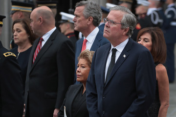 Jeb Bush Family And Friends Attend A Funeral Service For Pres. George H.W. Bush In Houston