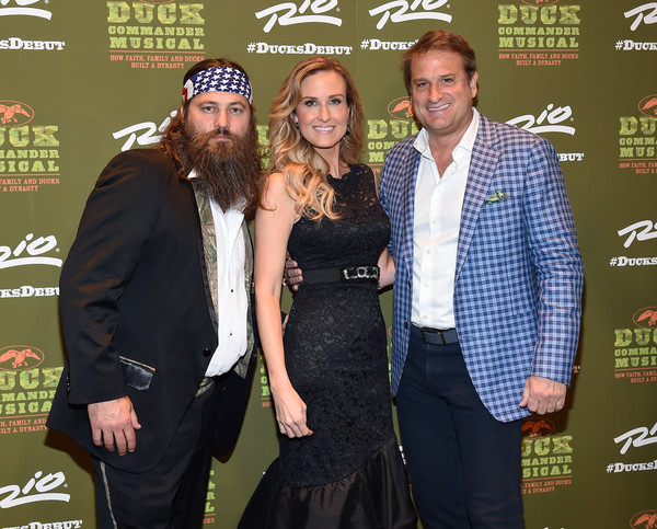 'Duck Commander Musical' Premiere at the Rio in Las Vegas [duck commander musical premiere,duck dynasty,musical,event,premiere,jeff calhoun,willie robertson,korie robertson,television personalities,l-r,the rio in las vegas,premiere]
