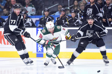 Jeff Carter Drew Doughty Minnesota Wild v Los Angeles Kings