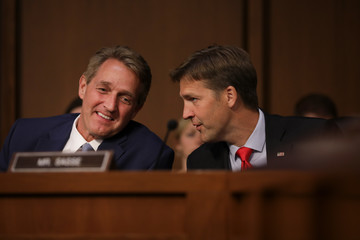 Jeff Flake Senate Holds Confirmation Hearing For Brett Kavanugh To Be Supreme Court Justice