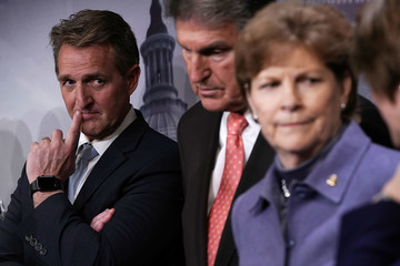 Jeff Flake Senate Lawmakers Discuss Ongoing Immigration Reform Efforts