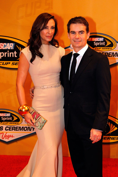 Jeff Gordon Ingrid Vandebosch Jeff Gordon And Ingrid Vandebosch Photos Nascar Sprint Cup Series Banquet Red Carpet Zimbio