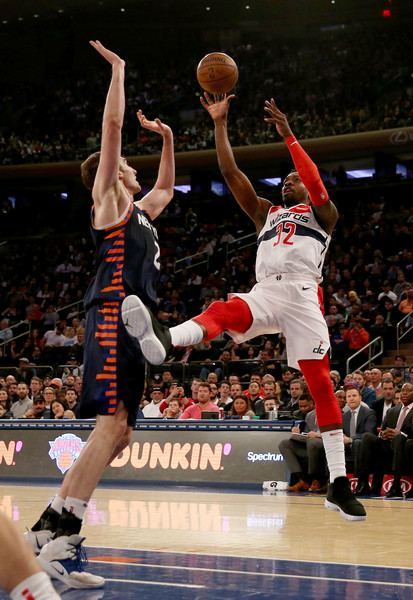 Washington Wizards Vs. New York Knicks [photograph,basketball moves,sports,basketball player,ball game,basketball,player,team sport,tournament,sport venue,sports equipment,jeff green,user,user,luke kornet 2,shot,note,terms,washington wizards,new york knicks]