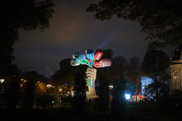 "Jeff Koons ""Nuit Blanche"" 2020 In Paris"