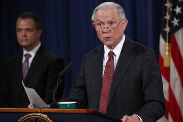 Jeff Sessions Attorney General Jeff Sessions Holds Press Conference at Justice