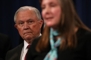 Jeff Sessions Attorney General Jeff Sessions And Mexican Counterpart Announce Enforcement Efforts Against Mexican Drug Cartel