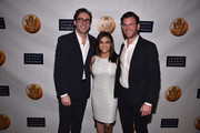 Dave Gilboa (R) and Neil Blumenthal (L), Co-CEO/Co-Founders of Warby Parker pose with  US Olympic Gymnast Laurie Hernandez (C) at the Jefferson Awards Foundation 2017 NYC National Ceremony at Gotham Hall on March 15, 2017 in New York City.
