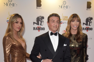 Jennifer Flavin Sistine Rose Stallone Millennium Media Dinner And Cocktail Reception In Honor Of Sylvester Stallone