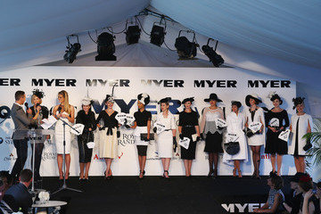 Jennifer Hawkins Celebrities Attend BMW Australian Derby