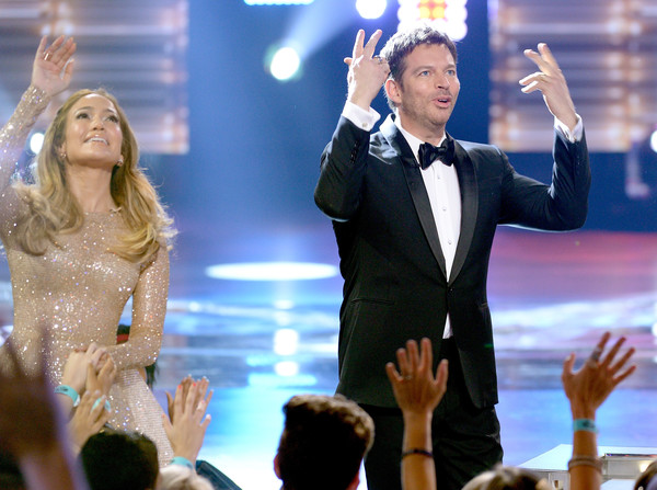 FOX's 'American Idol' Finale For The Farewell Season - Show [performance,event,music artist,formal wear,gesture,performing arts,tuxedo,jennifer lopez,harry connick jr.,actress,fans,hollywood,dolby theatre,california,fox,l,american idol finale for the farewell season - show]
