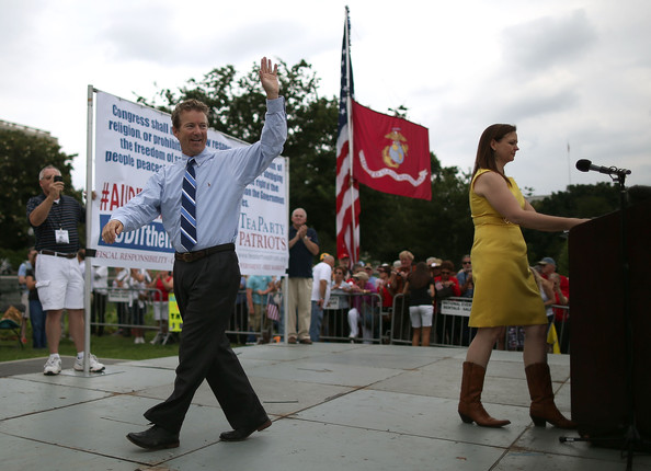 Tea Party Activists Stage a Protest Against the IRS