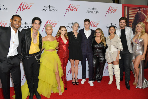Los Angeles Premiere Of Aviron Pictures' 'After' - Red Carpet [los angeles premiere of aviron pictures,red carpet,event,carpet,red,premiere,fashion,flooring,fashion design,red carpet,shane paul mcghie,hero fiennes-tiffin,jenny gage,josephine langford,samuel larsen,pia mia,anna todd,premiere]