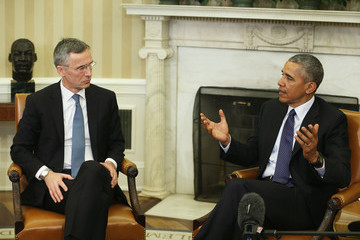 Jens Stoltenberg President Obama Meets With NATO Secretary-General at the White House
