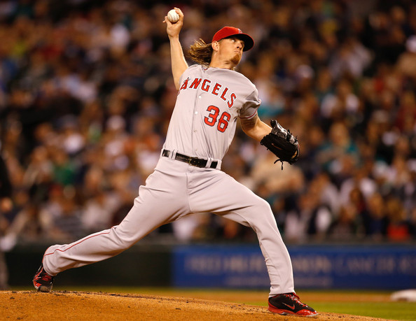 Jered Weaver - Los Angeles Angels of Anaheim v Seattle Mariners