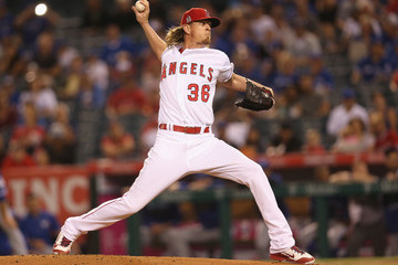Jered Weaver Toronto Blue Jays v Los Angeles Angels of Anaheim