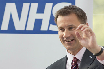 Jeremy Hunt David Cameron And Jeremy Hunt Visit A Hospital To Mark The 65th Anniversary Of The NHS