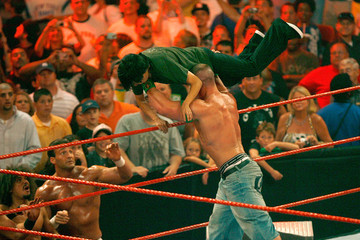 John Cena Jeremy Piven Hosts WWE's 'Monday Night Raw' At Mohegan Sun Arena