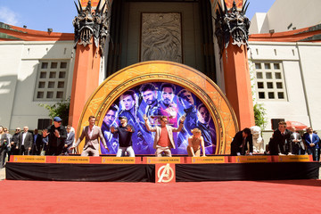 """Jeremy Renner Marvel Studios' """"Avengers: Endgame"""" Cast Place Their Hand Prints In Cement At TCL Chinese Theatre IMAX Forecourt"""
