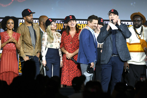 2019 Comic-Con International - Marvel Studios Panel [people,event,social group,performance,fashion,fun,stage,performing arts,music,talent show,kevin feige,san diego convention center,california,marvel studios panel,comic-con international]