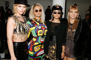 (L-R)  Leigh Lezark, actress/singer Kat Graham, singer Natalia Kills and singer CL 2ne1 attend the Jeremy Scott fall 2013 fashion show during MADE fashion week at Milk Studios on February 13, 2013 in New York City.