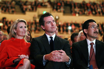 Gavin Newsom Jennifer Siebel Newsom Jerry Brown Swore In As Governor Of California