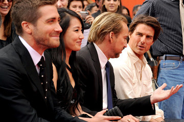 Alice Kim Cage Jerry Bruckheimer Hand And Foot Print Ceremony At Grauman's Chinese Theatre