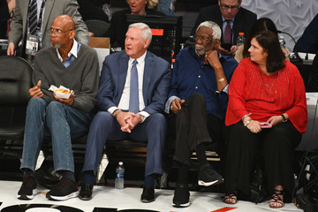 Jerry West Celebrities At The 67th NBA All-Star Game: Team LeBron Vs. Team Stephen