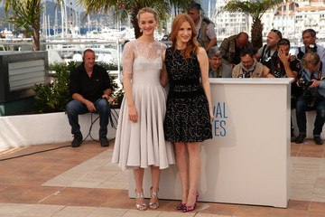 """Jess Weixler Jessica Chastain """"The Disappearance Of Eleanor Rigby"""" Photocall - The 67th Annual Cannes Film Festival"""