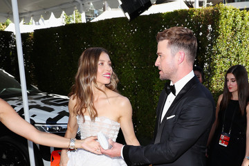 Jessica Biel Audi At The 70th Annual Emmy Awards