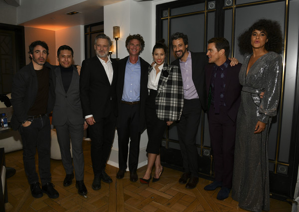 """Premiere Of USA Network's """"The Sinner"""" Season 3 - After Party [the sinner,season,social group,event,suit,formal wear,management,team,derek simonds,jessica biel,charlie gogolak,pose,l-r,usa network,premiere,party,justin timberlake,jessica biel,matt bomer,derek simonds,the sinner,stock photography,photography,image,actor]"""