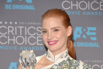 Jessica Chastain Critics' Choice Movie Awards Press Room